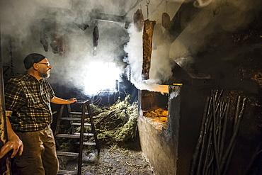 smokehouse, Black Forest Ham, Untermuehlbachhof, St.Georgen-Peterzell, Black Forest, Baden-Wuerttemberg, Germany