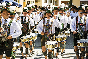 traditional prozession, Garmisch-Partenkirchen, Upper Bavaria, Bavaria, Germany