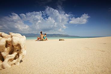 Beach, view of Lombok, Gili Trawangan, Lombok, Indonesia