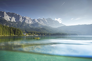 EIBSEE and Zugspitze, Grainau, Bavaria, Germany