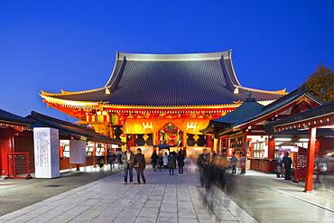 Senso-ji temple during blue hour, Asakusa, Tokyo, Japan