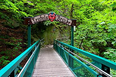 Teufelsbruecke, Bodetal, hiking trail, Harz, summer, valley, forest, Saxony-Anhalt, Germany