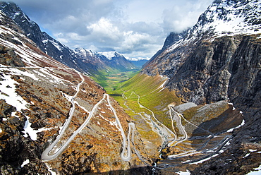 Spring, Valley, View, Trollstigen, Romsdal, Norway, Europe