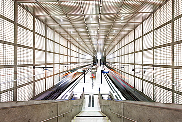 Architecture, Interior View, Railway Station, Saxony, Leipzig, Germany, Europe