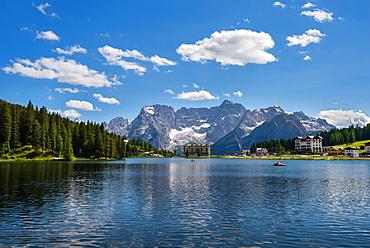 Misurina, Mountain Lake, Blue Sky, Summer, Dolomites, Alps, Italy, Europe