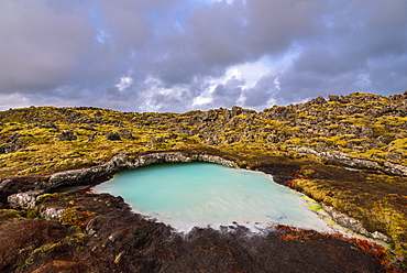 Blue Lagoon, Storm, Lake, Lava, Grindavík, Reykjanes, Iceland, Europe
