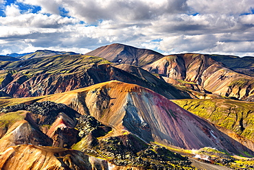 Brennisteinsalda, Landmannalaugar, Mountains, Highlands, View, Iceland, Europe
