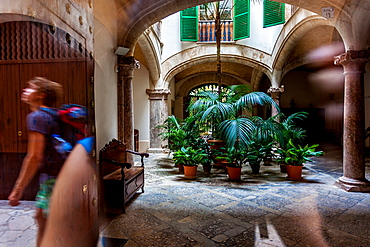 Backyard or Patio in the old city of Palma, Palma de Mallorca; Balearic Islands; Spain; Europe'