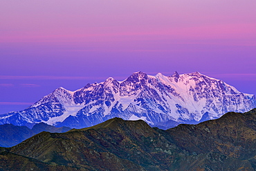 Monte Rosa, Valais, view from Mottarone, Piedmont, Italy