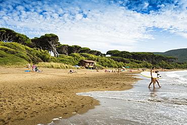 Beach, Populonia, near Piombino, province of Livorno, Tuscany, Italy