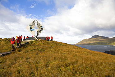 Memorial for castaways at Cape Horn, Cape Horn National Park, Cape Horn Island, Tierra del Fuego, Chile, South America