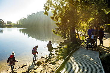 Lake Mummelsee, Seebach, near Achern, Black Forest, Baden-Wuerttemberg, Germany