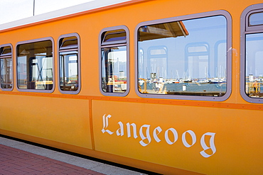 Island train, Langeoog Island, East Frisian Islands, Lower Saxony, Germany