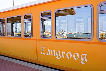 Island train, Langeoog Island, East Frisian Islands, Lower Saxony, Germany