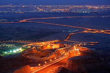 View from Jebel Hafeet, Al Ain, Abu Dhabi, United Arab Emirates, UAE