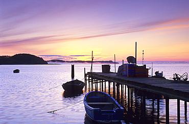 Europe, Germany, Mecklenburg-Western Pommerania, isle of Rügen, Gobbiner Haken, quay for fishing boats