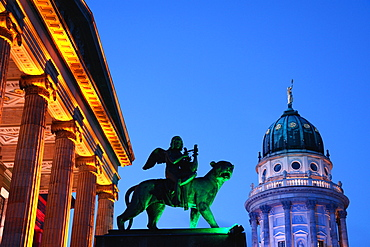 Gendarmenmarkt at night, Berlin, Germany