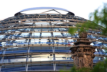 Close-up of the Reichstag Dome, Berlin, Germany