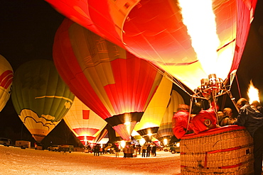 Hot air balloon festival, Bad Kohlgrub, Upper Bavaria, Bavaria, Germany