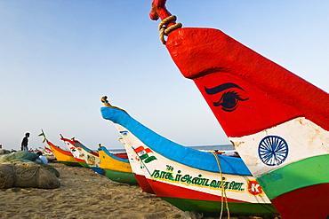 fishingboats at Marina Beach, Chennai, India