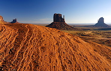 Red sandstone at Monument Valley, Utah, North America, America