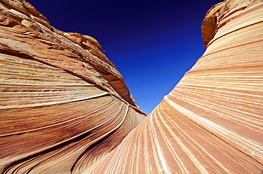 The Vermillion Cliff, sandstone formations in the sunlight, Coyote Buttes, Arizona, North America, Amerca