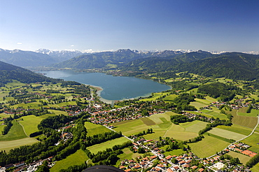 Aerial shot of Gmund am Tegernsee, Bavaria, Germany