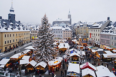 Christmas market, Annaberg-Buchholz, Ore mountains, Saxony, Germany