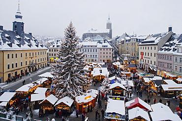 Christmas market, Annaberg-Buchholz, Ore mountains, Saxony, Germany