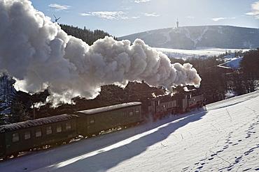 Fichtelberg Railway, Hammerunterwiesenthal, Oberwiesentahl, Ore mountains, Saxony, Germany
