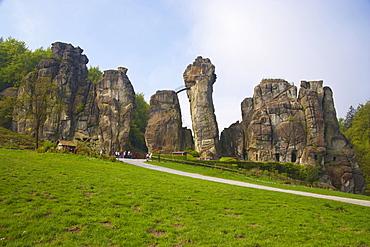 Externsteine, Horn-Bad Meinberg, Teutoburger Wald, North Rhine-Westphalia, Germany