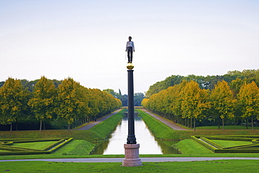 Baroque garden in the evening, Kleve, North Rhine-Westphalia, Germany