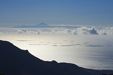 View from Gran Canaria to the island of Tenerife with Teide volcano, Gran Canaria, Canary Islands, Spain, Europe