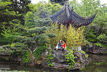 Chinese Garden in Chinatown, Vancouver City, Canada, North America