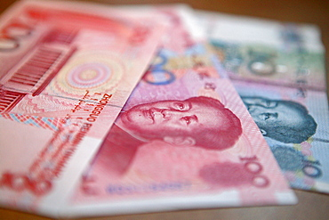 "Yuan, Renminbi (RMB) means ""The People's Currency"", bank note, portrait of Mao Tse Tung"