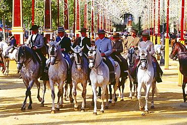 Horse fair,Feria del Caballo,Reiten,Jerez de la Frontera,Province Cadiz,Andalusia,Spain