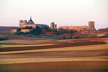 Cloister,monastery,Ucles,Province Cuenca,Castilla-La Mancha,Spain