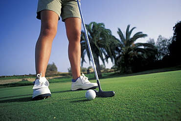 Golfer, Golf Camp near Maspalomas, Gran Canaria