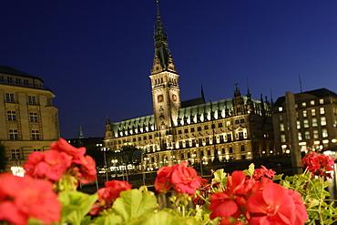 Town Hall, Hamburg Rathaus, City, Hamburg, Germany