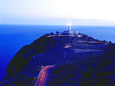 Lighthouse at night, Cap de Formentor, Mallorca, Spain