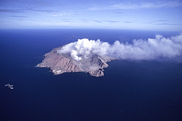 Aerial Photo of White Island Volcano, Near Bay of Plenty, North Island, New Zealand