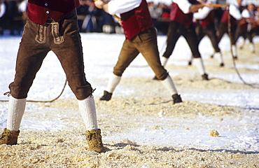 Children cracking whips, Folklore show, Wals-Siezenheim, Salzburg, Austria