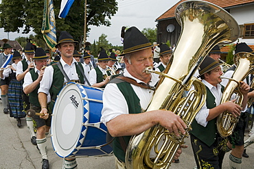 Brass Band, Königsdorf, Bavaria, Germany