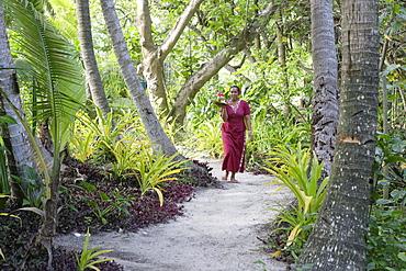 Waitress, Fafa Island Resort, Tonga, South Seas