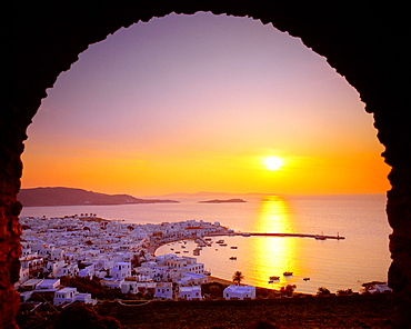 Panoramic view, Mykonos City, Cyclades, Greece