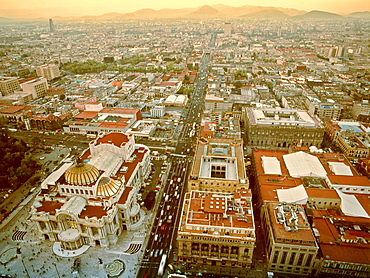 Mexico City, Panoramic view ,Torre Latinamericana