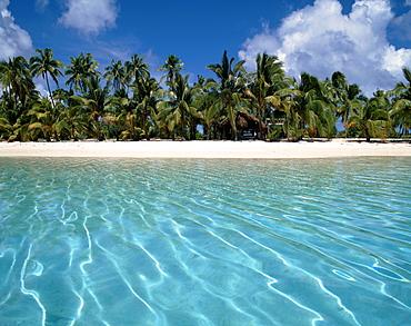 South pacific, Cook Islands, Aitutaki lagoo, , One foot Island, dream beach