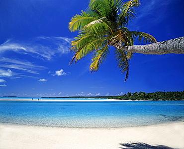 One foot Island Cook Islands ,Aitutaki, Traumstrand