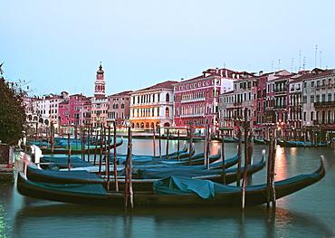 Gondolas, Canale Grande, Venice, Italy