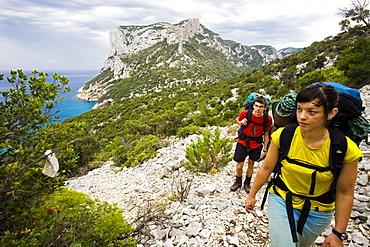 Adventurous trekking Il Sentiereo Selvaggio Blu, Sardinia, Golfo di Orosei, Italy